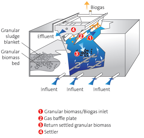 راکتور فرآیند بی هوازی UASB