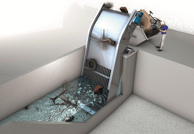 آشغالگیر مکانیکی فاضلاب