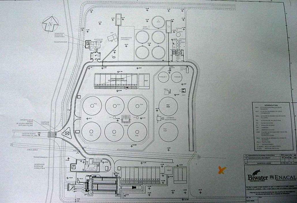 نقشه طراحی تصفیه خانه فاضلاب